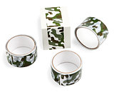 Packing tape with print. Masking tape for gift wrapping. Camoufl