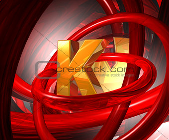 letter k in abstract space