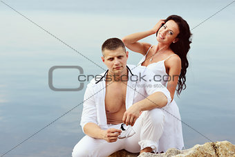 caucasian young couple