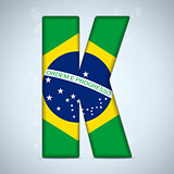 Brazil Flag Brazilian Alphabet Letters Words