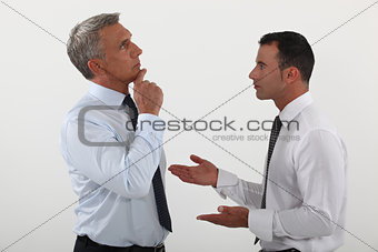 Businessmen in discussion