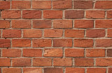 Red bricks wall.