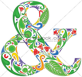 Colorful ampersand