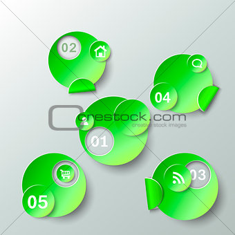 Abstract template for data presentation paper stickers