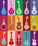 Guitars vector illustration