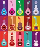Guitars vector illustration