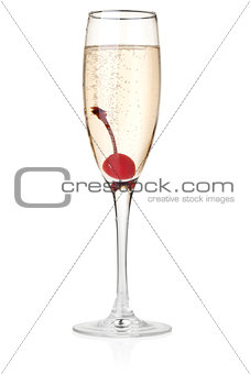Champagne in glass