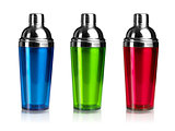 Three color shakers