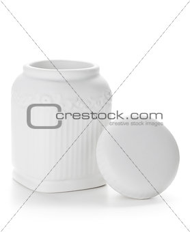 Ceramic container with cover