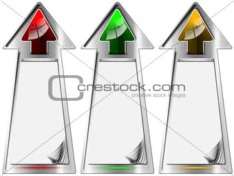 Arrows Banners with Blank Pages