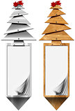 Stylized Christmas Tree Vertical Banners