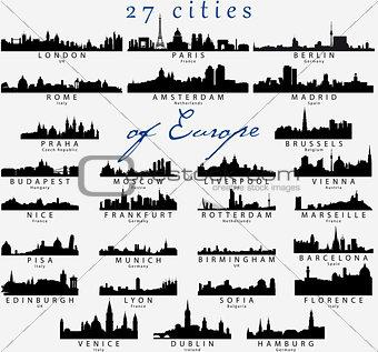 European skylines