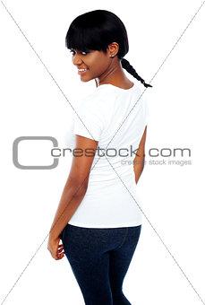 Cute trendy african girl
