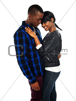 Attractive african couple posing together