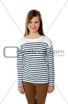 Beautiful trendy casual teenager