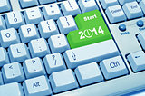 start 2014 of computer keyboard