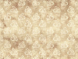 Paper texture with floral decor