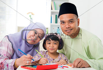 Asian family drawing