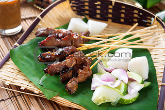 Satay  grilled meat