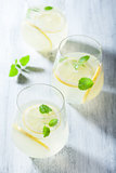 fresh lemonade in glass
