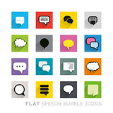 Flat Icons - Speech Bubbles