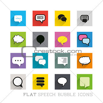 Flat Icons - Speech Bubbles