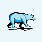 Blue Vector Bear