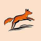 Jumping Orange Fox
