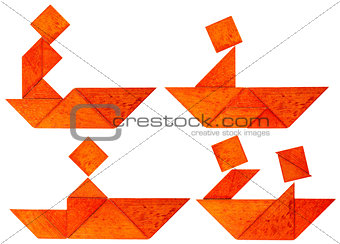 tangram fisherman or rower