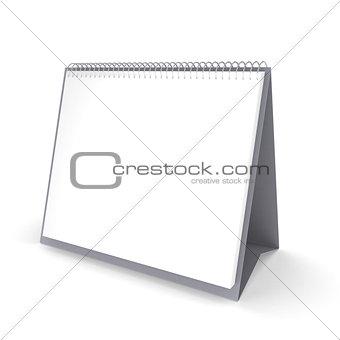 blank desktop calendar