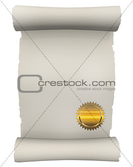 Certificate Scroll with golden seal