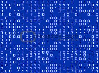 Blue screen and digital data