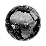 Africa on black Earth