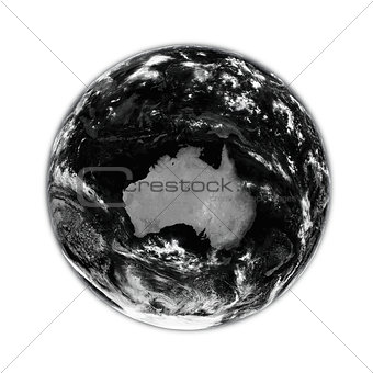 Australia on black Earth