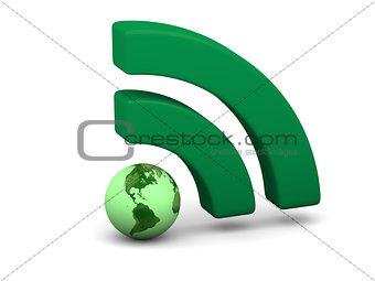 Green WiFi symbol