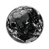 Southeast Asia on black Earth