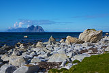 Rocky shore in Norway