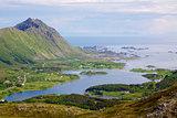 Scenic coast of Norway