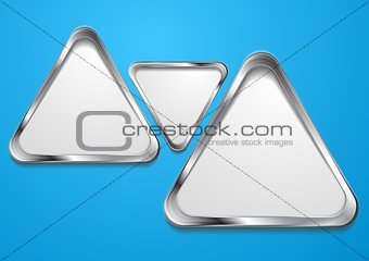 Abstract vector shapes with silver frame