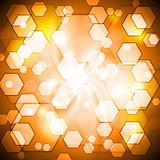 Orange shiny vector background