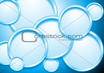 Abstract vector design with 3d round shapes