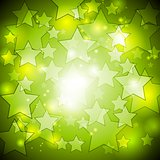 Bright green stars vector design