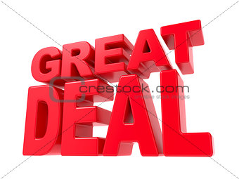 Great Deal - Red 3D Text.