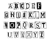 vector illustration of grunge alphabet
