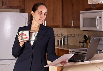 Business woman working from home.