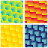 Set Of Seamless Square Patterns
