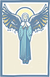 Angel Winged Virgin Mary