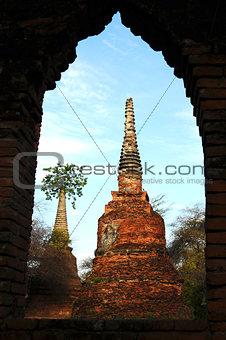 Ancient wat in Thailand