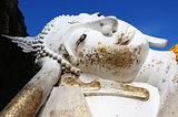 Reclining Buddha at an Ancient wat in Thailand