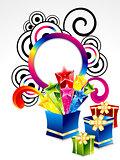 abstract colorful explode magic box